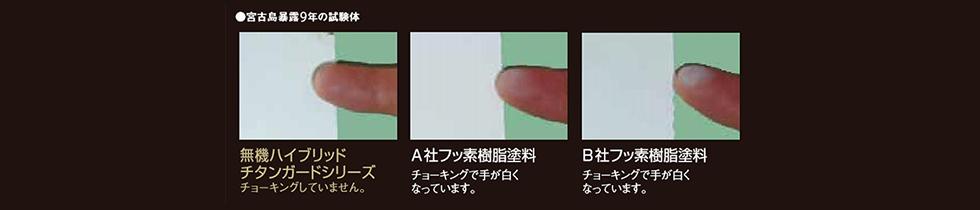 色あせしにくい塗膜